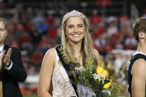 Georgia Cobb smiles as she is crowned the 2019 Homecoming Queen.