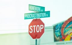 Alexandra Norton battles with procrastination while doing online schoolwork at home.